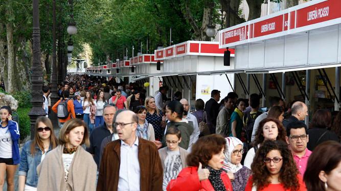 Casetas de la Feria del libro de Granada