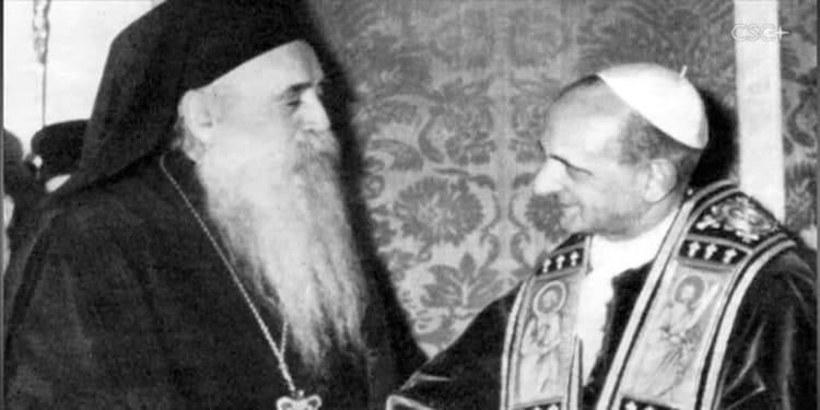 Reseña del libro el abrazo de Jerusalen entre Pablo VI y el patriarca Athenagoras
