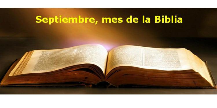 Banner Septiembre, mes de la Biblia