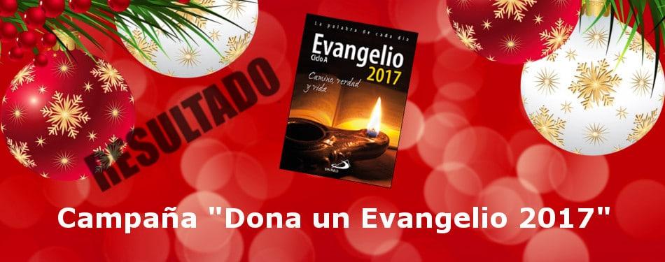 Banner Resultado Campaña Dona un Evangelio 2017