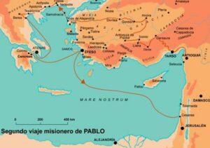 Mapa Segundo viaje San Pablo grande