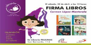firma de libros de la coleccion calacuentos de la editorial san pablo