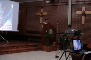 la hermana agnes wong hablando sobre la Venerable tecla Merlo