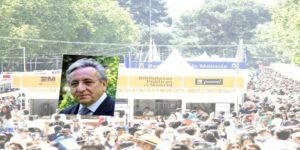 Pedro Miguel Lamet en la feria del libro 2017 de madrid en la caseta de Paulinas la 121