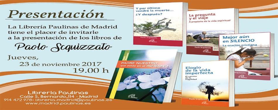 Paolo Scquizzato presentara sus libros en la libreria paulinas de Madrid