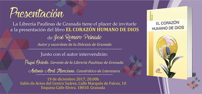 Invitación Corazón humano de Dios