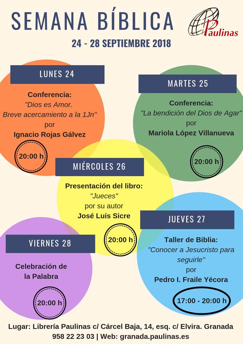 Cartel Semana bíblica