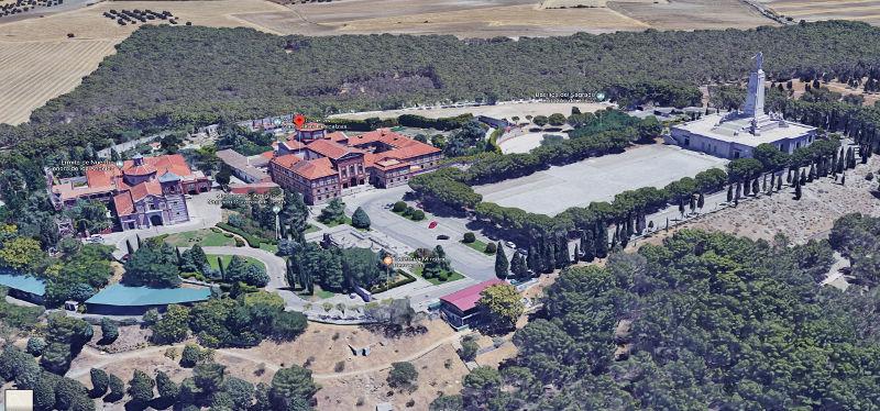 Vista aérea Cerro de los ángeles