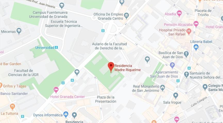 Mapa Residencia Madre Riquelme
