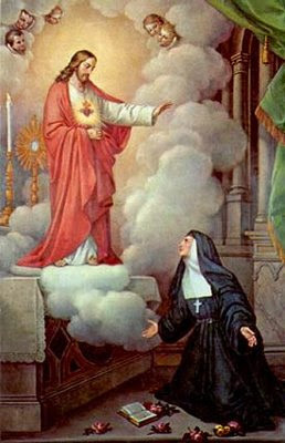 Jesús se aparece a santa Margarita