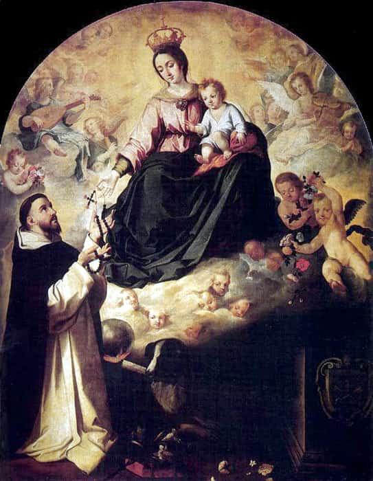 Santo Domingo y la Virgen